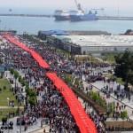 1919 Metre Uzunluğunda Dev Türk Bayrağı (Video/Resim)