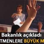 Sözleşmeli Öğretmenler Kadrolu Oluyor!