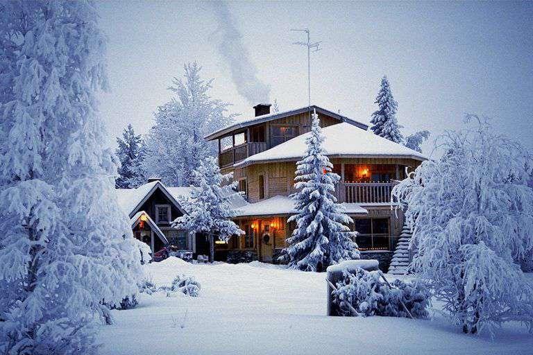 manzara, kış, kar