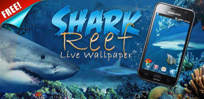 Shark Reef Live Wallpaper Free android