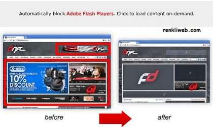 Google Chrome İçin Flash İçerik Engelleme Eklentisi – FlashControl