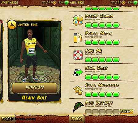 Usain Bolt Temple Run 2