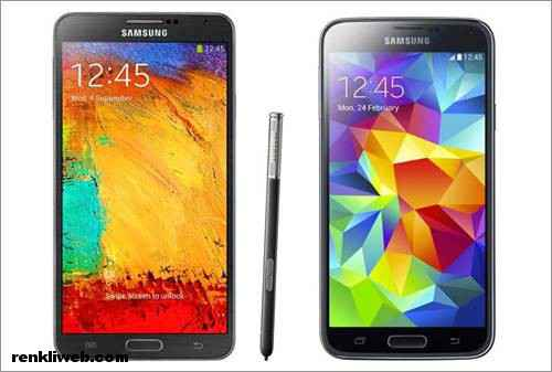Galaxy S5 ve Galaxy Note 3