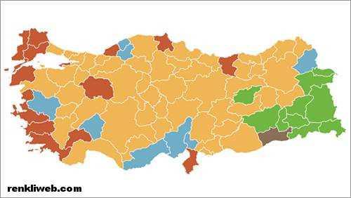 2014 yerel seçim haritası