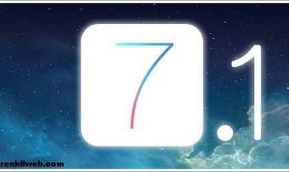 iOS 7.1 Final Güncellemesi Çıktı!