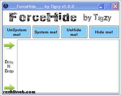 Windows'da Dosya Gizleme ve Gizlilik Kaldırma Programı – ForceHide
