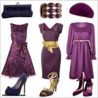 Mürdüm rengi elbisenin altına ne renk ayakkabı giyilir?