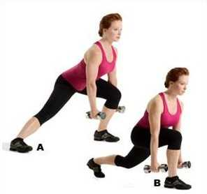 Lunge Combo Hareketi bacak kalça inceltme