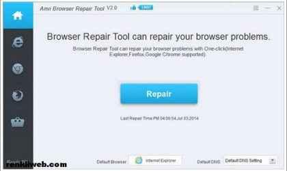 Tarayıcı Ana Sayfa Değiştirme Programı – Anvi Browser Repair Tool