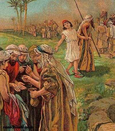 Hz. Yusuf kardeşleri tarafından köle olarak satılırken