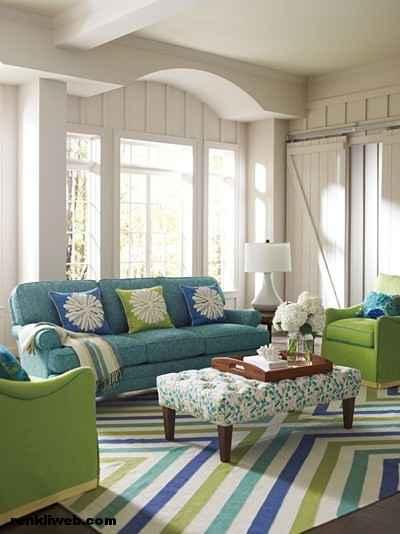 oda dekorasyonu aynı renkler