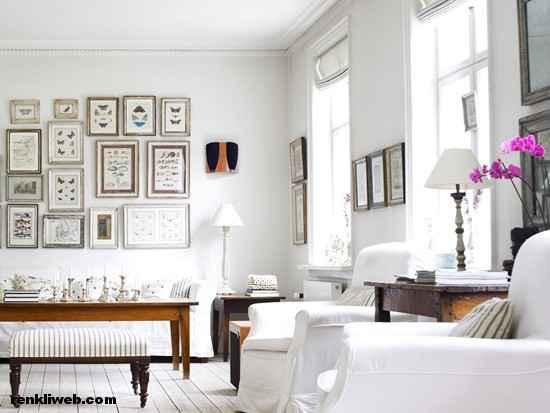 oda dekorasyonu sergileme