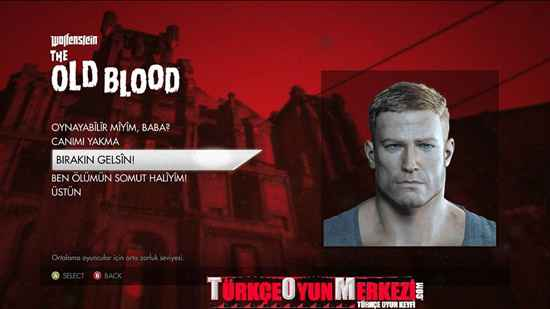 Wolfenstein The Old Blood PC Türkçe Yama