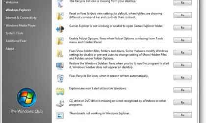 Windows 8, 7 ve Vista Sorunlarını Düzeltme Programı –  FixWin İndir