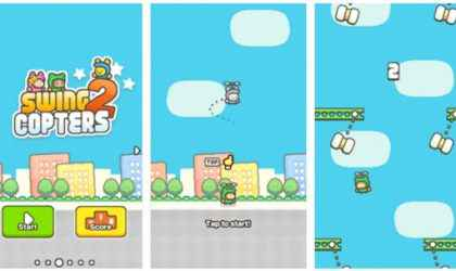 Android İçin Yeni Flappy Bird Benzeri Helikopter Oyunu – Swing Copters 2 İndir