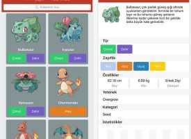 Android ve iPhone İçin Türkçe Pokedex İndir – Pokemon Go İçin Türkçe Pokedex