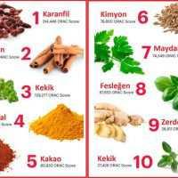 Yüksek Antioksidan İçeren Bitkiler ve Bitki Çayları
