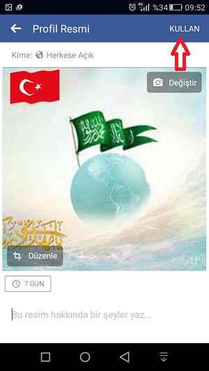 facebook prfil fotoğrafına türk bayrağı ekleme 4