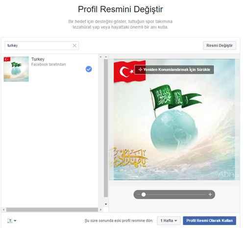 facebook prfil fotoğrafına türk bayrağı ekleme