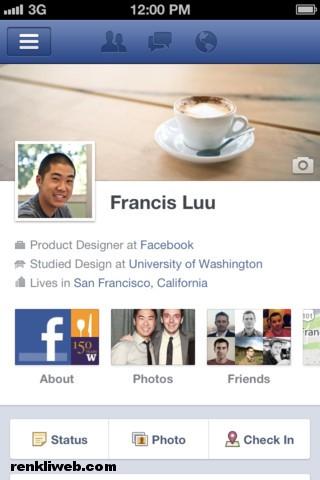 Facebook, iphone