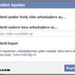 Facebook'da Sohbeti Sadece Bir Kaç Kişiye Açma