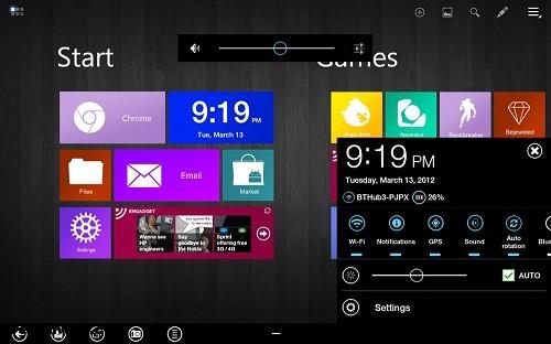 android, temai windows 8, tablet bilgisayar