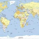 Dünya Siyasi Haritası (Büyük Boyutlu)