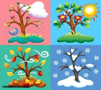 mevsimler, 4 mevsim, ilkbahar, yaz, sonbahar, kış