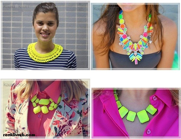 kolye, neon, aksesuar, moda
