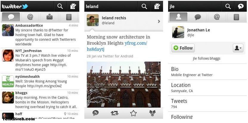 twitter, android, sosyal ağ, cep telefonu