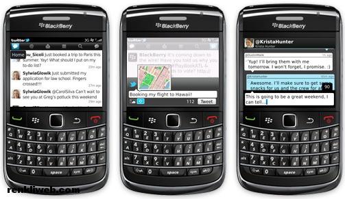 blackberry, twitter, uygulama, cep telefonu
