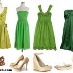 Yeşil ve Gri Elbise Altına Ne Renk Ayakkabı/Bot Giymeliyim?